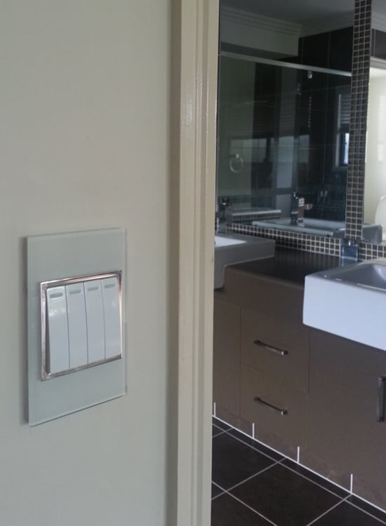 australian size glass light switch bathroom gallery
