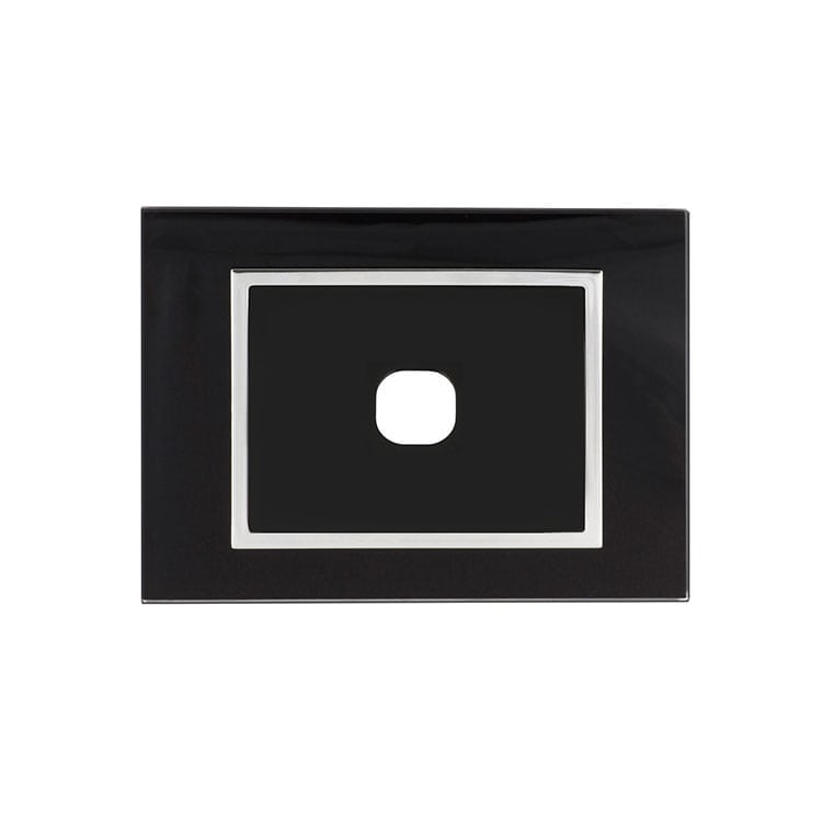 Vetro EU Black 1 hole Data Plate