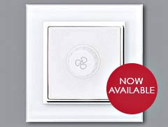Glass Luminosa Dimmer and Fan Switches