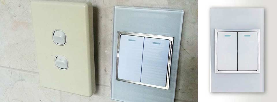 make ugly beautiful | modern glass light switches & power points