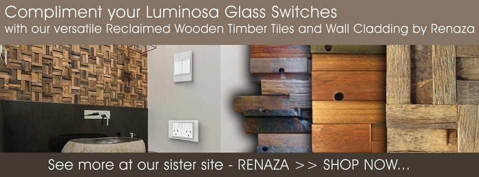 Renaza Tiles - Our sister site. Compliment your swithces with our versatile wooden wall cladding and tiles.